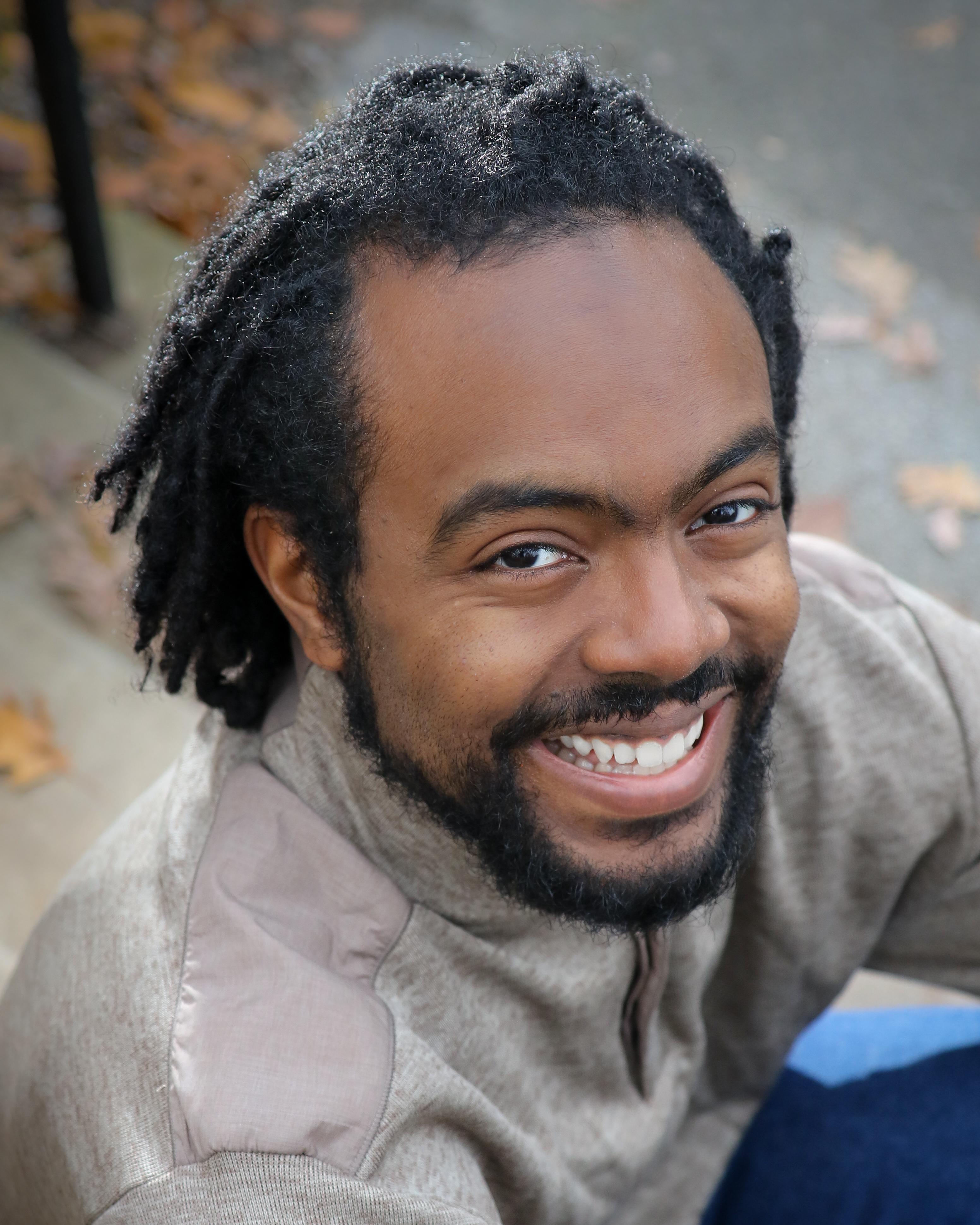 headshot of author Aaron Brown